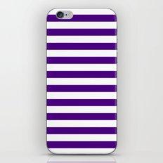 Horizontal Stripes (Indigo/White) iPhone & iPod Skin