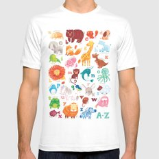 Animalphabet SMALL White Mens Fitted Tee
