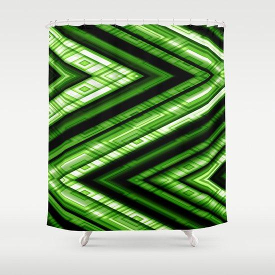 Zig Zag Pattern green Shower Curtain by Christine Baessler | Society6