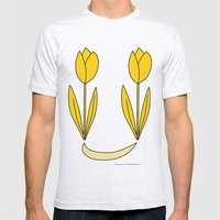 Tulips 02 Mens Fitted Tee Ash Grey SMALL