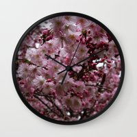 Blossoms in Bloomfield Wall Clock