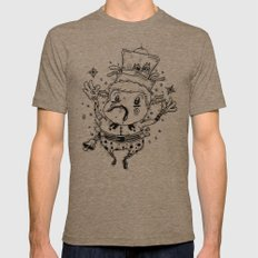 Star Catcher Mens Fitted Tee Tri-Coffee SMALL
