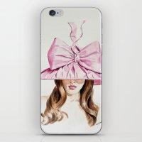 Pink Derby Hat iPhone & iPod Skin