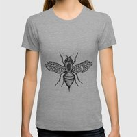 Bee Womens Fitted Tee Athletic Grey SMALL