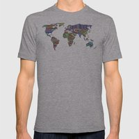 Overdose World Mens Fitted Tee Athletic Grey SMALL