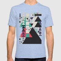 play stop pause rewind Mens Fitted Tee Tri-Blue SMALL