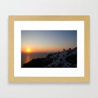 Santorini Sunsets Framed Art Print