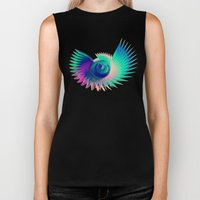 Abstract Wing Biker Tank
