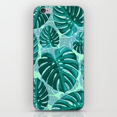 Tropical Leaf Monstera Pattern  iPhone & iPod Skin