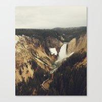 Yellowstone Falls Canvas Print
