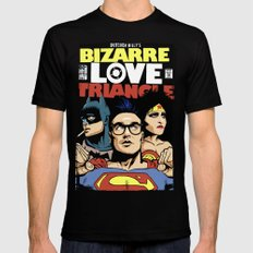 Bizarre Love Triangle: The Post-Punk Edition SMALL Mens Fitted Tee Black
