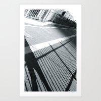 WHITEOUT : Walk The Line Art Print
