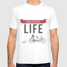 Enjoy the free life Mens Fitted Tee White SMALL