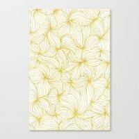 Golden Doodle floral Canvas Print