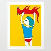 Dead Dog Art Print