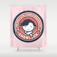 Sherlock - Cute Sherlock Holmes in Red Shower Curtain