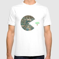 Pacman Mens Fitted Tee White SMALL