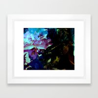 High Rose In The Water Framed Art Print
