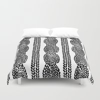 Cable Row Duvet Cover