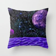 View From The Blue Moon Throw Pillow