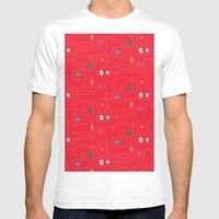 Red Bicycle Mens Fitted Tee White SMALL