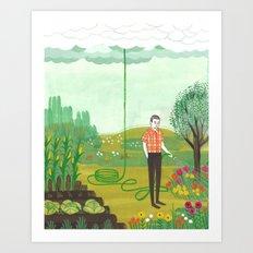 Using Rain Art Print