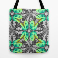 T. Rex Ice Pattern Tote Bag