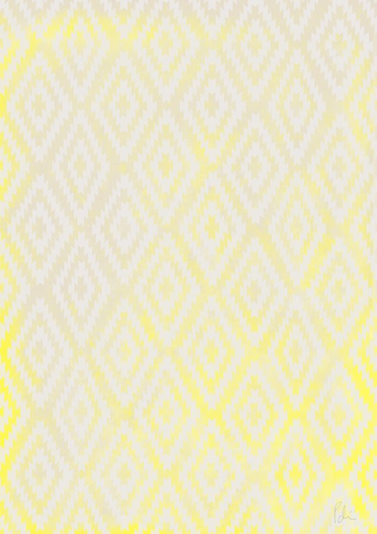 Summer Fade: Lemon Popsicle Art Print
