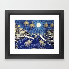 MOON SHIP Framed Art Print