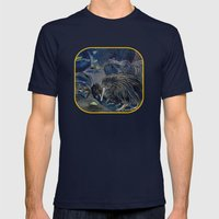 Kiwi, Bats, Morepork and More Mens Fitted Tee Navy SMALL