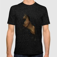 Divine Steed Mens Fitted Tee Tri-Black SMALL