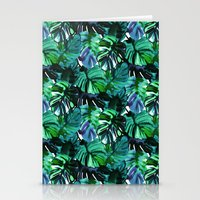 Welcome to the Jungle Palm electric green Stationery Cards