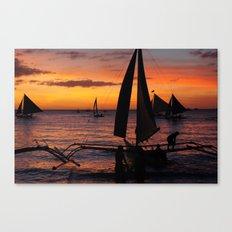 Borocay Sunset Philippines Canvas Print