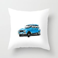 Renault 4L Throw Pillow
