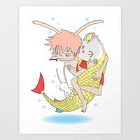 安寧 HELLO - FISHING E… Art Print