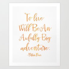 Peter Pan MANGO quote Art Print