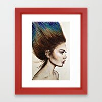 Ombre Hair (Mirror) Framed Art Print