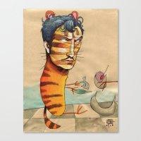 EASY, TIGER Canvas Print