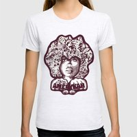 Erykah Badu Womens Fitted Tee Ash Grey SMALL