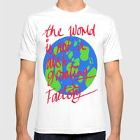 The World Is Not A Wish … Mens Fitted Tee White SMALL