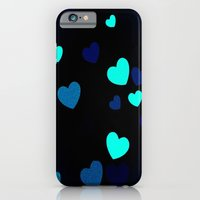 iPhone & iPod Case featuring Blue Hearts by marianastutz