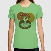 Sad Clown Womens Fitted Tee Grass SMALL