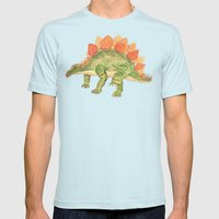 Stegosaurus Mens Fitted Tee Light Blue SMALL