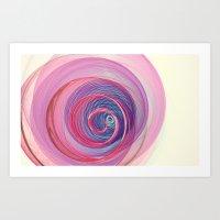 Ring Nebula Abstract  Art Print