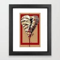 Razor Blade Romance Framed Art Print