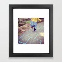Hopscotch Framed Art Print