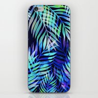 Watercolor palm pattern iPhone & iPod Skin