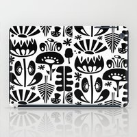 MCM Scandi Flowers Black iPad Case