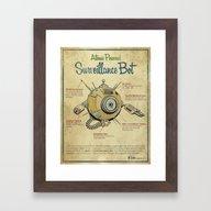 Framed Art Print featuring Surveillance Bot Eyeball… by Michael Murdock
