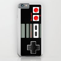 iPhone Cases featuring Classic retro Nintendo game controller iPhone 4 4s 5 5c, ipod, ipad, tshirt, mugs and pillow case by Three Second